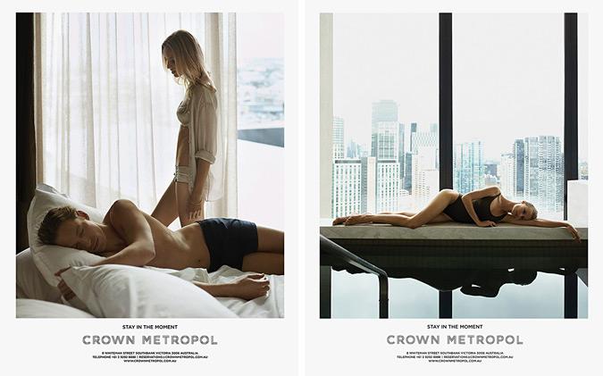плакати реклама готелю Crown Metropol