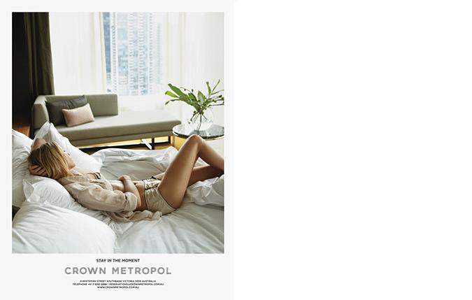 плакати реклама мережі готелів Crown Metropol