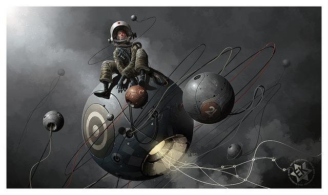 ілюстрація астронавт