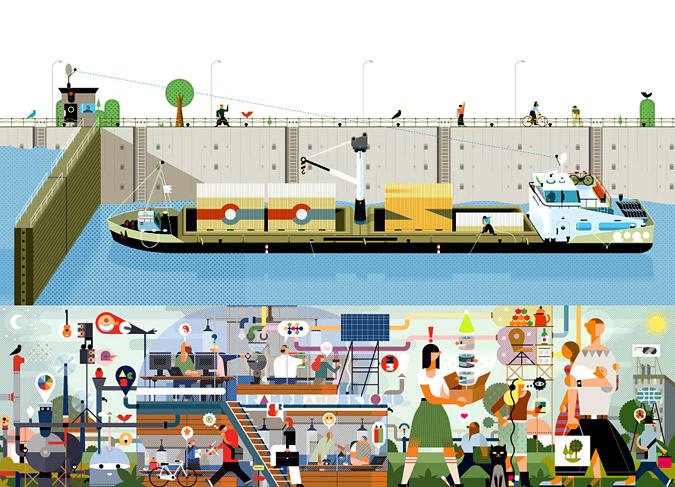 ілюстрація корабель