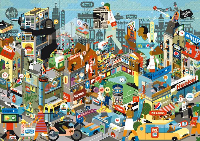 ілюстрація місто