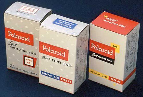 старий фірмовий стиль Polaroid